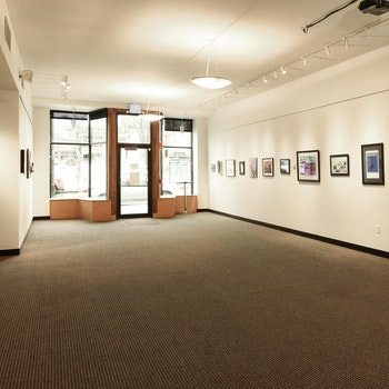 Interior photo of the Amy E. Tarrant Gallery.