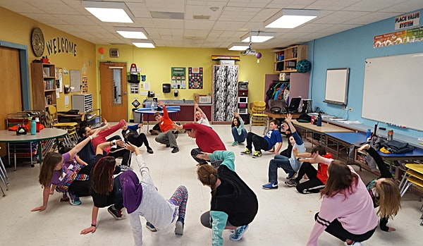 Arts Integrated less at Founders Memorial School led by Flynn teaching artist Rose Bedard